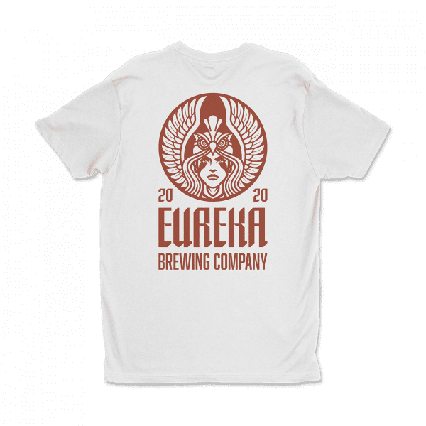 White Eureka Brewing Co Shirt back