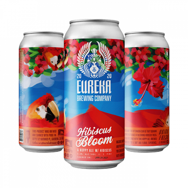 A hoppy ale beer with hibiscus