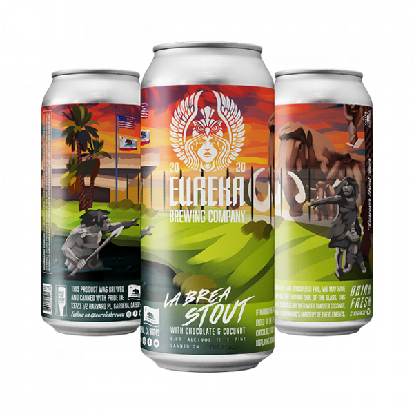 La Brea Stout Beer by Eureka Brewing